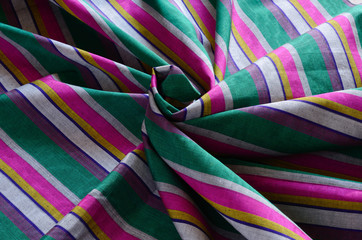 Madras - colorful striped oriental material