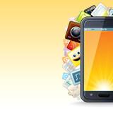 Smart Phone Apps Poster. Illustration