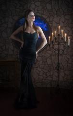 Fantasy style portrait of demonic woman