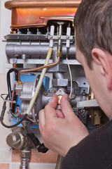 repair of household water heater