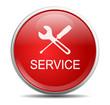 Icon rund rot Werkzeug Service