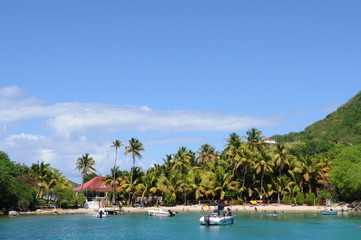seaside of Les Saintes in Guadeloupe