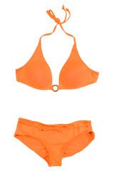 Orange halter bikini