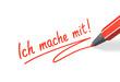 Stift- & Schriftserie: Ich mache mit! rot