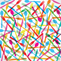 Colorful forks background stock vector