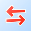 Synchronization arrows icon. Vector illustration