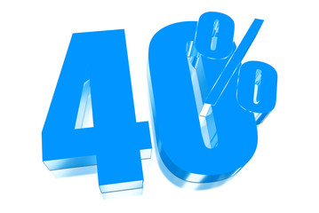 40 percent discount on three-dimensional