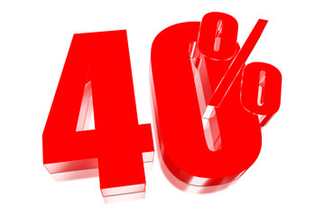 40 percent discount on three-dimensional