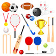 vector illustration of collection of different sports icon