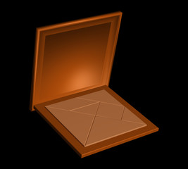 Chinese tangram puzzle in a wooden box