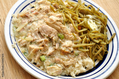 Creamed Turkey Dinner with String Beans
