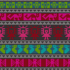 Traditional andean knitting pattern