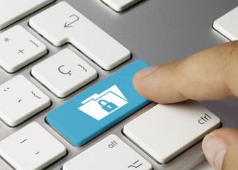 Folder lock keyboard key Finger