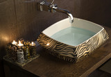 Modern Bathroom Sink with tiger pattern