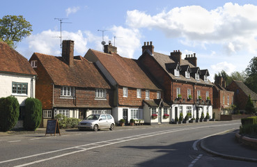 Cottages at Chiddingfold. Surrey. England