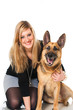 Young woman with dog - Junge Frau mit Hund