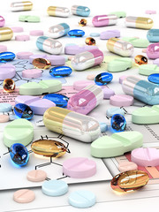 Various pills and capsules