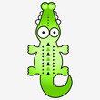 Illustration of a cute funny crocodile