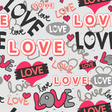 Cute romantic seamless pattern design