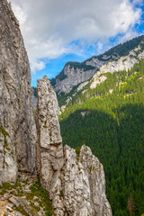 Rock formations in Tatra Mountains, Poland.