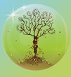 A magic celtic tree in a bubble