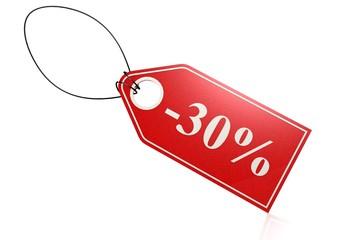 30 percent discount.