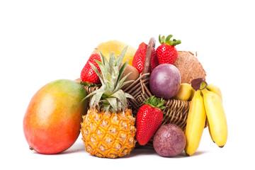 bunter frischer Obstkorb