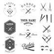 Set of vintage barber shop labels, badges and design elements - 51070074