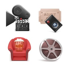 cinema vector icon set