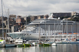 Cruise ship in Genoa