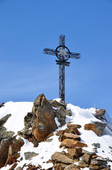 Iron cross in Alps