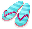 Blue stripe sandal