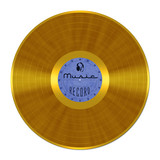 Golden Vinyl Record