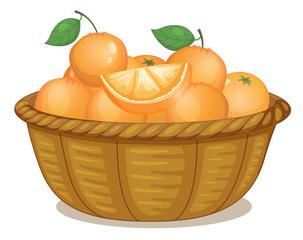 A basket full of oranges