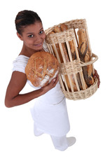 Female bakery worker