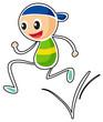 A little boy running