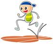 A sketch of a boy running