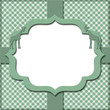 Green Gingham with Ribbon Background for your message or invitat