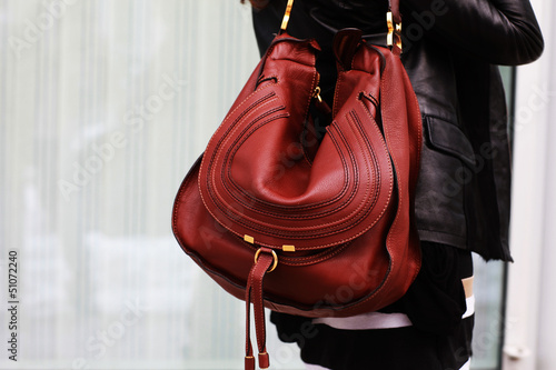 canvas print picture rote Tasche
