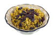 Spicy Rice and Raisins in Dish