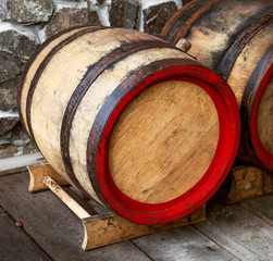 Nominal wooden wine barrel