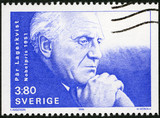 SWEDEN -1990: shows Par Lagerkvist, Nobel Laureate in Literature poster