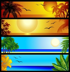 Tropical Seascape and Sunset-Paesaggi Tropicali e Tramonto