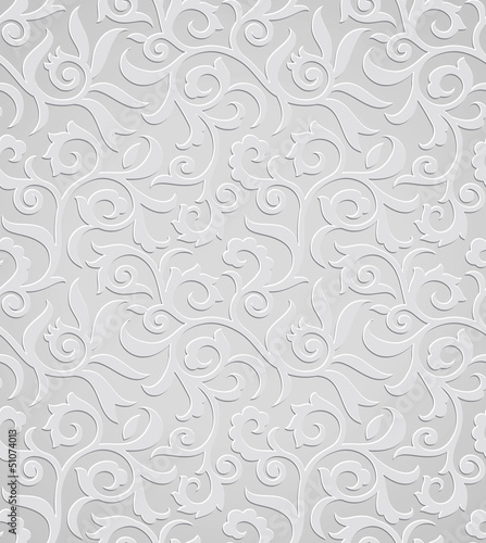 Traditional silver wallpaper