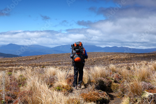 New Zealand - Tongariro crossing Hiker