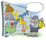A mechanic looking at wages and purchasing power poster