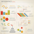 Retro infographics set. Vector