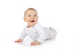 canvas print picture -  Süßes Baby lacht - sweet happy baby