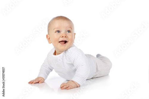 canvas print picture  Süßes Baby lacht - sweet happy baby