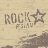 Rock festival abstract poster template. Vector, EPS10